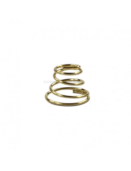 8mm (D) x 6mm (H) DIY Gold Plated Battery / Driver Contact Support Springs for Flashlights (5 pcs)