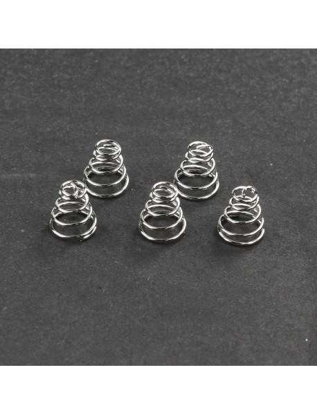 9mm (D) x 9mm (H) Nickel-plated Bronze Battery Spring (5 pcs)