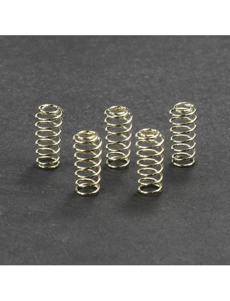 6mm (D) x 15mm (H) Gold Plated Phosphor Bronze Spring (5 pcs)