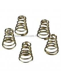 8mm (D) x 11mm (H) DIY Gold Plated Battery / Driver Contact Support Springs for Flashlights (5 pcs)