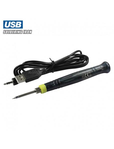 ZD Portable 5V USB Soldering Iron - Black (1 pc)