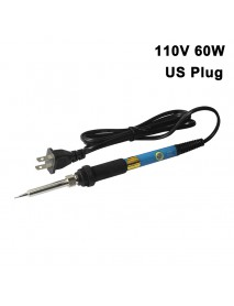 HWY US Plug 110v 60w Adjustable Temperature Soldering Iron Station