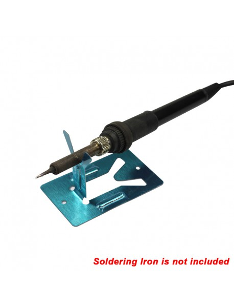 80mm(L) x 50mm(W) Stainless Soldering Steel Iron Stand ( 2 pcs )
