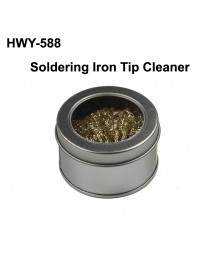 HWY-588 Anti-static Soldering Iron Tip Cleaner with Stand - Silver ( 1 pc )