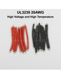 UL3239 20AWG High Voltage and High Temperature Silicone Wire - Black and White (10 pairs)