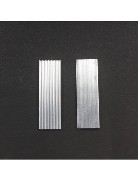 DIY Aluminium Led Heatsink for LED Cooling Rectangle-Type (2 pcs)