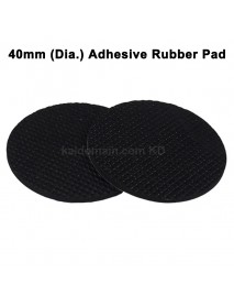 40mm(D) Adhesive Rubber Pad - Black (5 pcs)