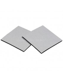 50mm(W) x 50mm(L) Adhesive Foam Pad - Black (10 pcs)