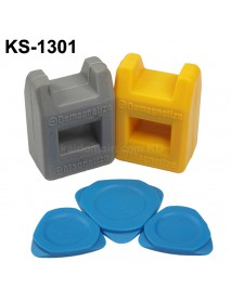 KS-1301 2-in-1 Screwdriver Magnetizer and Demagnetizer Tool - Grey and Yellow ( 1 Set )