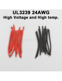 UL3239 24AWG High Voltage and High Temperature Silicone Wire - Black and White (10 pairs)