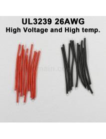 UL3239 26AWG High Voltage and High Temperature Silicone Wire - Black and White (10 pairs)