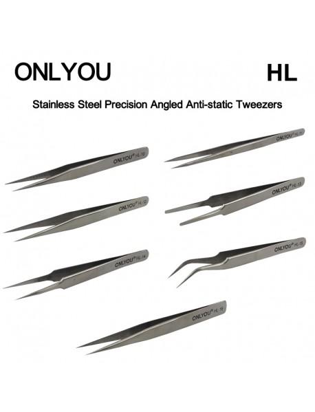 ONLYOU HL Stainless Steel Precision Anti-static Tweezers