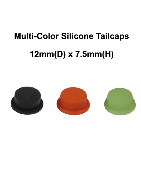 12mm(D) x 7.5mm(H) Silicone Tailcaps (5 pcs)