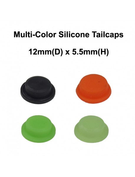 12mm(D) x 5.5mm(H) Silicone Tailcaps (5 pcs)