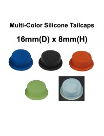 16mm(D) x 8mm(H) Silicone Tailcaps (5 pcs)