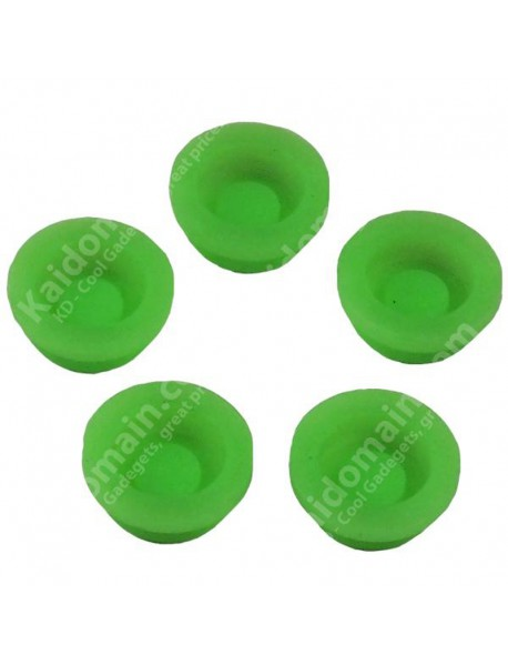 Green Fluorescent Light Silicone Tailcaps 13.6mm x 6.3mm (5 pcs)