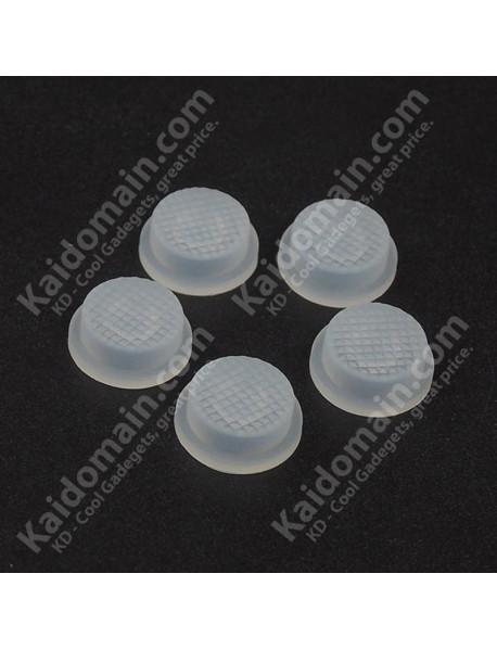 13.6mm(D) x 6.3mm(H) Silicone Tailcaps - Transparent (5 pcs)