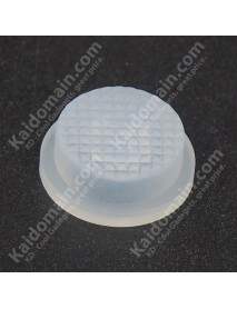 13.6mm(D) x 6.3mm(H) Silicone Tailcaps - Transparent (5 pcs)