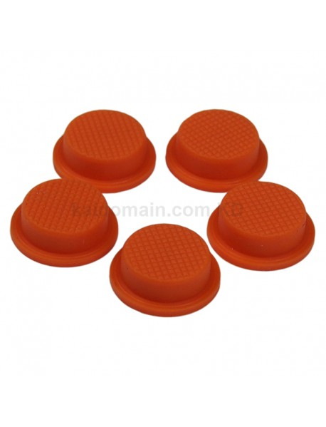 14mm(D) x 6mm(H) Silicone Tailcaps - Orange (5 pcs)