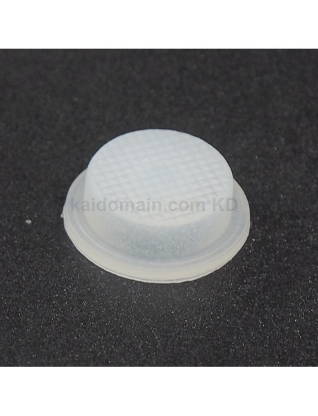 14mm(D) x 6mm(H) Glow-in-the-dark Blue Light Silicone Tailcaps - Transparent (5 pcs)