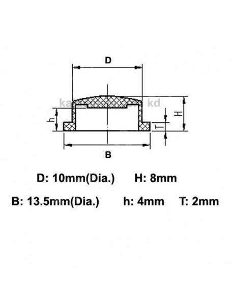 10mm(D) x 8mm(H) Silicone Tailcaps - Transparent (5 pcs)