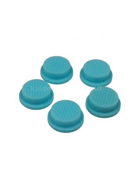 13.6mm(D) x 6mm(H) Silicone Tailcaps - Light Blue (5 pcs)