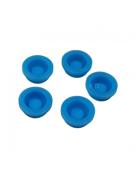 13.6mm(D) x 6mm(H) Silicone Tailcaps - Blue (5 pcs)