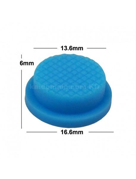13.6mm(D) x 6mm(H) Silicone Tailcaps - Blue (5 pcs)