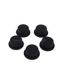 14mm(D) x 8mm(H) Silicone Tailcaps Short version - Black (5 pcs)