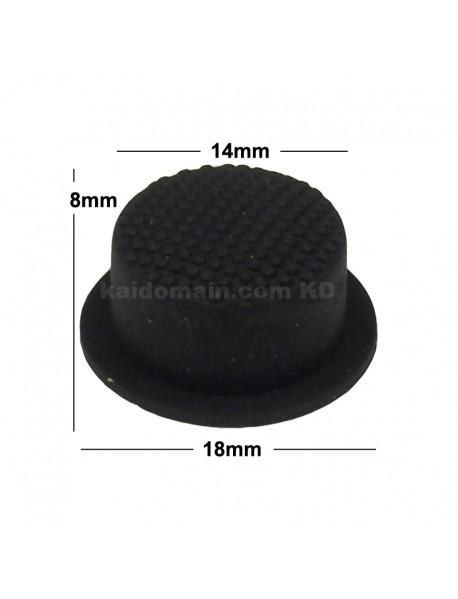 14mm(D) x 8mm(H) Silicone Tailcaps Short version - Black (5 pcs)