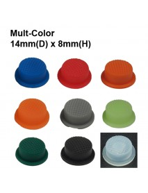 14mm(D) x 8mm(H) Silicone Tailcaps - Multi-Color (9 pcs)