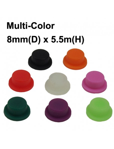 8mm (D) x 5.5mm (H) Silicone Tailcaps - 5 pcs