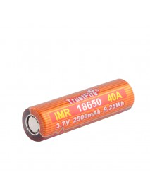 TrustFire IMR18650 40A 3.7V 2500mAh Rechargeable Li-ion 18650 Battery