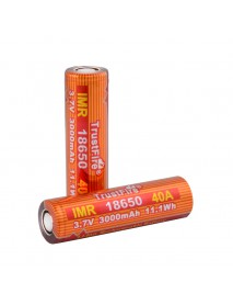 TrustFire 18650 40A 3.7V 3000mAh Rechargeable Li-ion 18650 Battery