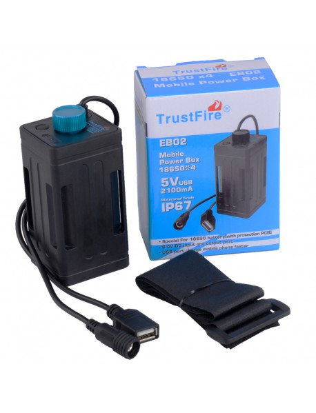 TrustFire EB02 Bicycle Mobile Power Box ( 4 x 18650 )