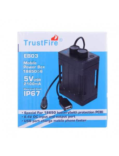 TrustFire EB03 Bicycle Mobile Power Box ( 6 x 18650 )