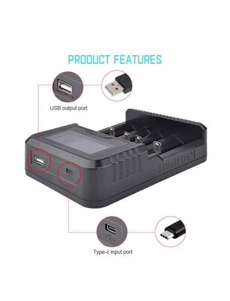 TrustFire TR-020 4 Slots Intelligent QC 3.0 USB Portable Battery Charger