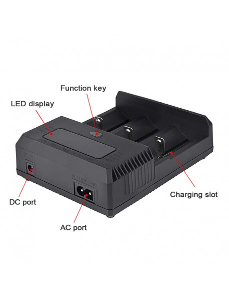 TrustFire TR-018 Charger for 32650 / 26650 / 25500 / 21700 / 20700 / 18650 / 18350 / 16650 / 14500 Battery