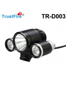TrustFire TR-D003 1800lm Bicycle Light (with rubber caps, battery pack and charger)