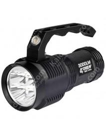 TrustFire S400 Cree XM-L2 3000 Lumens 4-Mode LED Flashlight - Black (4 x 18650)