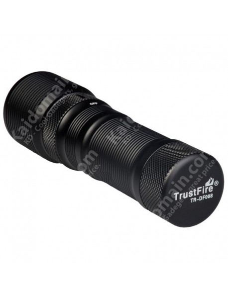 TrustFire DF008 Cree XM-L2 700 Lumens 3-Mode LED Diving Flashlight with Holster - Black (1 x 26650)