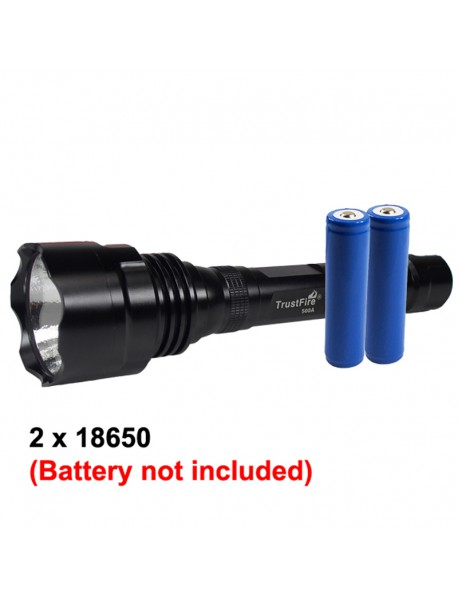 TrustFire 500A PHILIPS LXR7 LED 5-Mode 1800 Lumens   Flashlight (2 x 18650)