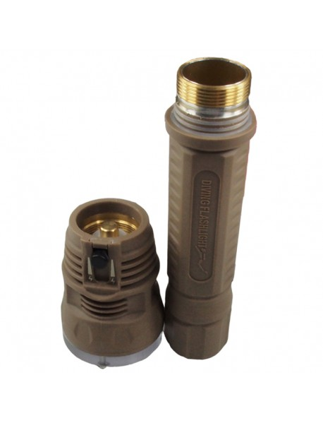 TrustFire TR-DF002 3 x Cree XM-L2 1300 Lumens 2-Mode LED Diving Flashlight -   Brown (2x26650)