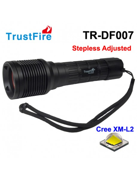 TrustFire TR-DF007 Cree XM-L2 800 Lumens Stepless Adjusted LED Diving   Flashlight - Black (1x26650)