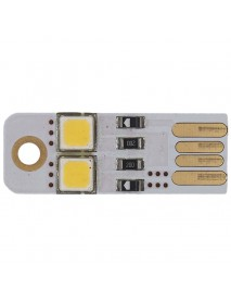 Double Sided USB 2 x LED 5500K Cool White USB LED Light - Gold (1 pcs)