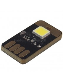 Single Sided USB 1 x LED 0.5W 6000K White Mini USB LED Light - Black (1 pcs)