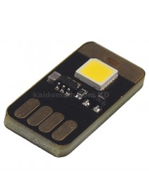 Single Sided USB 1 x LED 0.5W 4000K Neutral White Mini USB LED Light - Black (1 pcs)