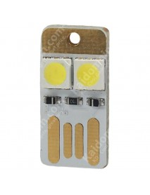 Double Sided USB 2 x LED 0.5W White 5600K Mini USB LED Light - White (1 pcs)