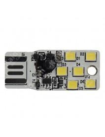 SMY Double Sided USB 6 x LED White 6500K Mini USB LED Light - White (1 pc)