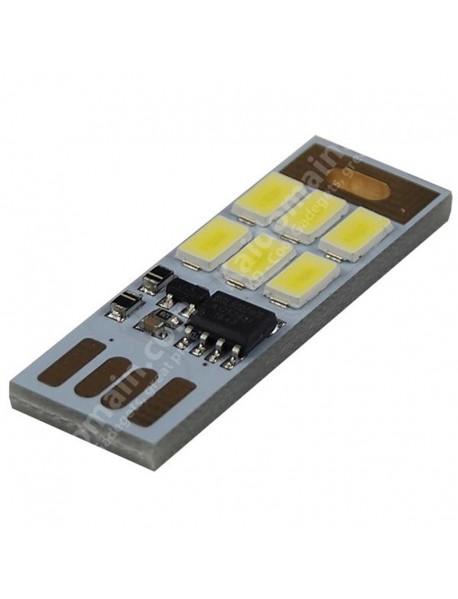 Double Sided USB 6 x LED 1W White 5500K Stepless Adjusted Mini USB LED Light (2 pcs)
